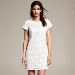 Kate Spade White Eyelet Havana Shift Dress
